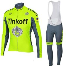 TINKOFF Long sleeve Replica Cycling Jersey and Bib Long Set Racing Pro