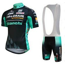 Bianchi Replica Cycling Jersey and Bib Short Set Racing Pro