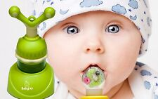 BabyKr Premium Baby Food Feeder, Cute Fresh Fruit Teething Toy Nibbler
