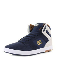 Mens Dc Argosy High Se Navy Hi Top Casual Leather Skate Trainers Shoes Sz Size