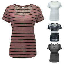 JdY Only T-shirt femme Top Shirt Haut Manches courtes Rayures Color Mix NEUF