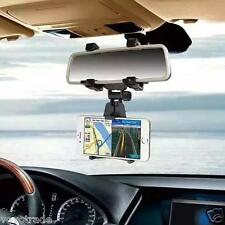 Universal Car Rearview Mirror CAR Mount Holder Stand Cradle For CellPhone GPS