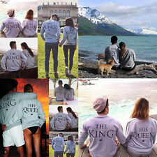 The King & His Queen Partnerlook Sweatshirt Pärchen Shirt Paar Pulli Geschenk