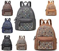 Womens Rucksack School Travel Festival Multi Colour Studs Backpack Shoulder Bag