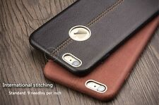 """Vorson® For """"Apple iPhones Double Stitch Leather Shell Back Case Cover Multi Col"""