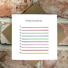 10 Things I Love About You Card - Funny, Anniversary, Birthday, Valentines, Love