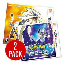 New Pokemon Moon Sun COMBO Pack DEAL- Nintendo 3DS New US Version