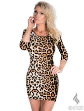 Sexy Midi/Mini Kleid leopard Damen Cocktailkleid Party Lingerie Gr S/M 36-38 NEU