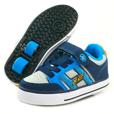 Heelys Bolt Plus Navy/Blue/Grey with Flashing Lights - Size 2, 3 & Jnr 13 SALE!