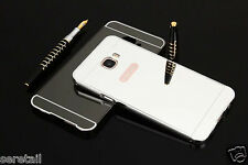 LUXURY METAL FRAME BUMPER+PC MIRROR HARD BACK CASE COVER FOR SAMSUNG GALAXY C5