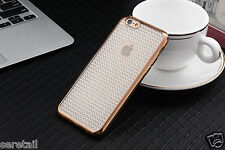 Luxury Soft Silicone *DIAMOND PATTERN GRID* Back Case Cover FOR APPLE iPHONE 7