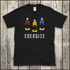 STAR TREK 'Beam Me Up / Energize' T SHIRT All Sizes to 5XL