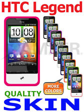 AMZER Silicone Skin Case Gel Cover + extra Case/ Screen Protector For HTC Legend