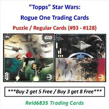 """Topps"" Star Wars: Rogue One Trading Cards - Puzzle / Regular Cards (#93 - #128)"