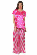Fasense Exclusive Women Imported Satin Nightwear Sleepwear Top & Lungi, RR031 B