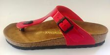 Birkenstock Gizeh Classic Sandals - Red Patent - Made In Germany