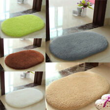 Oval Bathroom Rug Non Slip Bath Mat Door Floor Cover Shower Carpet 60x40cm