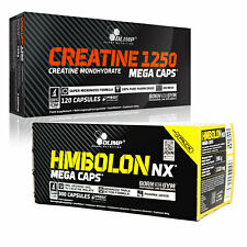 CREATINE MONOHYDRATE & HMBOLON NX 60-180 CAPS. MUSCLE GROWTH ANTICATABOLIC HMB