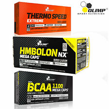 BCAA + Thermo Speed Extreme + HMBolon 90/180 Caps Muscle Growth Fat Burner HMB