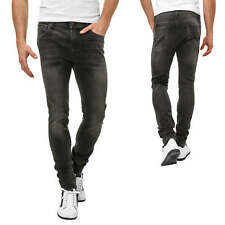 Jack & Jones Jean homme Pantalon Casual Skinny Fit Denim Stretch Noir NEUF