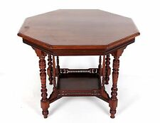 Antique Victorian Side Table Occasional Lamp Table Mahogany Octagonal 19th Centu