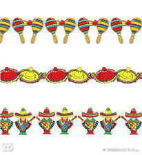 MARIACHI SOMBRERO MARACAS GARLAND MEXICAN FIESTA PARTY 3M DAY DEAD DECORATIONS