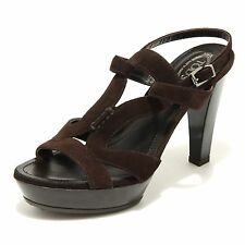 2451 marrone sandalo TOD' S scarpe donna shoes women