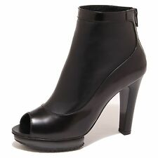 8076O stivaletto HOGAN TRONCHETTO SPUNTATO nero scarpa donna boot woman