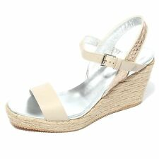 B0702 sandalo donna HOGAN H266 scarpa zeppa corda shoes women