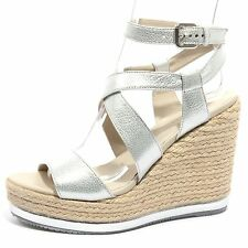 B1236 zeppa donna HOGAN scarpa sandalo argento yuta shoes women