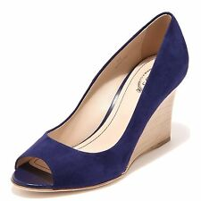 58380 decollete spuntato TOD'S ZEPPA RD bluette scarpa donna shoes women