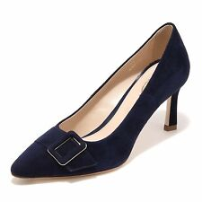 95945 decollete blu TOD'S  T75 SC FIBBIA PELLE scarpa donna shoes women