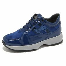8367M HOGAN INTERACTIVE JUNIOR scarpe bimba shoes sneaker kids blu