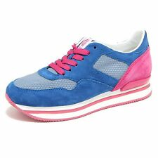 9741M sneaker HOGAN H2220 scarpe donna shoes woman bluette
