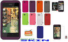 AMZER Silicone Skin Case Gel Cover + extra Case/ Screen Protector For HTC Rhyme