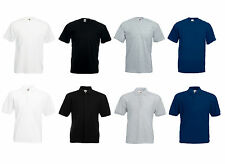 Homme Fruit of the loom Uni Grande Taille T-Shirt Chemise Polo FOTL T-shirts