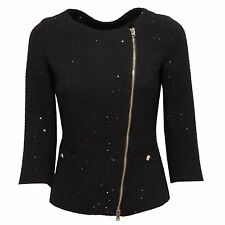 7881R giacca donna HERNO nero giacca manica 3/4 coat jacket woman