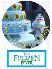 Disney Frozen Fever Olaf Personalized Edible Cake topper 7 Inch cupcakes Precut