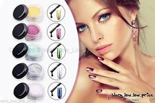 Neuf Chrome Effet Miroir Ongle Poudre Pigment Vernis Poussière Ongles Trend