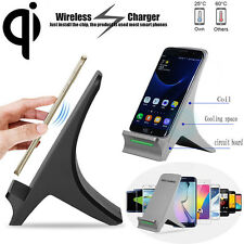 3 Coils Qi Wireless Fast Charger Charging Stand Dock Holder For Smart Phone New