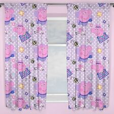 "PEPPA PIG HAPPY CURTAINS AVAILABLE IN 54"" AND 72"" GIRLS BEDROOM CURTAINS NEW"