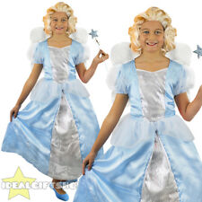 GIRLS BLUE GOOD WITCH SCHOOL BOOK CHARACTER FILM CHARACTER FANCY DRESS COSTUME