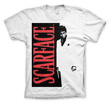 UNISEX Official Licensed SCARFACE  Movie Poster TONY MONTANA White T-Shirt