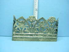 Dollhouse Miniature Fireplace Screen - Antique Brass Plated -Handcrafted #FS18a