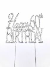 Brillantini Strass Bastoncino Decorativo Per Torte Topper Happy Birthday