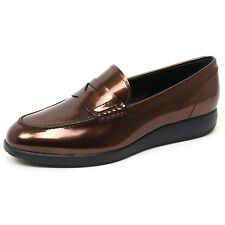 B4715 mocassino donna HOGAN H209 DRESS XL scarpa marrone loafer shoe woman