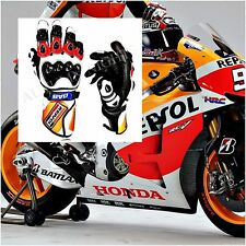 New Honda Motorbike Gloves Leather Repsol Racing Suits Glove MotoGp All Size