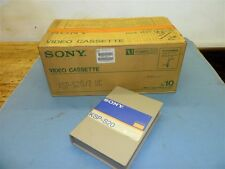 CASE 10 SONY KSP-S20/2 UC UMATIC SP TAPE 129M/423FT BROADCAST VIDEO CASSETTE NOS