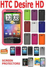 AMZER Jelly Cover Luxe Argyle + xtra Gel Case Screen Protector For HTC Desire HD