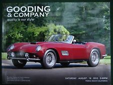 Gooding & Company  Pebble Beach Auction August 2012       Two catalogs